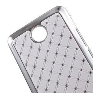 Drahokamový kryt na Huawei Y635 - bílý - 3