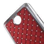 Drahokamový kryt na Huawei Y635 - červený - 3/5