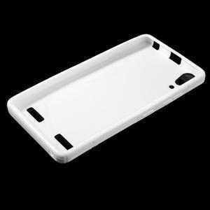 S-line gelový obal na mobil Lenovo A6000 - bílý - 3