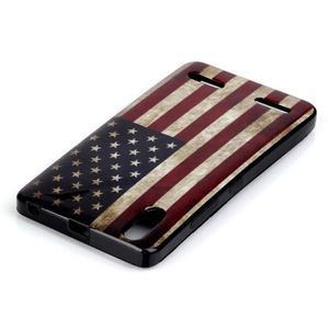 Jelly gelový obal na mobil Lenovo A6000 - US vlajka - 3