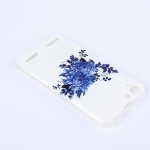Softy gelový obal na mobil Lenovo Vibe K5 / K5 Plus - modré květiny - 3