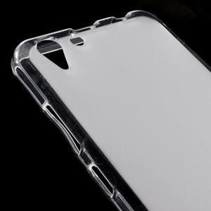 Matný gelový obal na mobil Lenovo Vibe K5 / K5 Plus - transparentní - 3