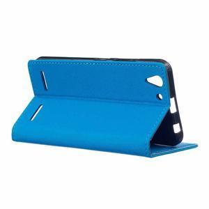 Peněženkové pouzdro na Lenovo Vibe K5 / K5 Plus - modré - 3
