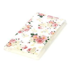 Softy gelový obal na mobil Lenovo P70 - květiny - 3