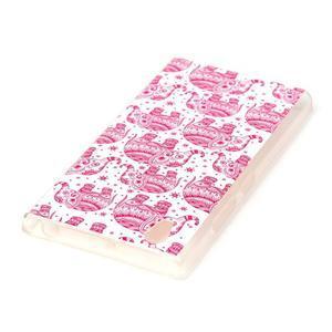 Softy gelový obal na mobil Lenovo P70 - růžoví sloni - 3