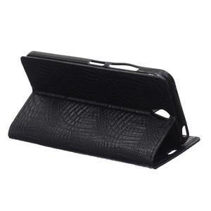 Croco PU kožené pouzdro na mobil Lenovo Vibe S1 - černé - 3