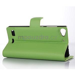 Zelené peněženkové pouzdro Lenovo Vibe X2 - 3