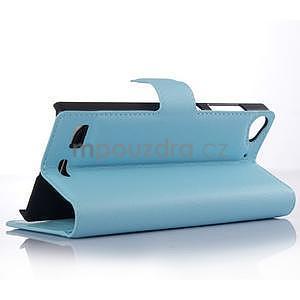 Světle modré peněženkové pouzdro Lenovo Vibe X2 - 3