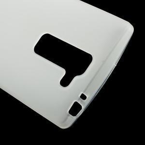 Matný gelový kryt na LG Spirit - bílý - 3