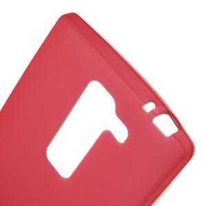 Matný gelový kryt na LG Spirit - červený - 3
