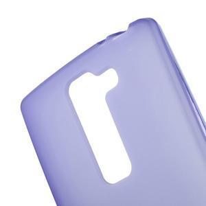 Matný gelový kryt na LG Spirit - fialový - 3
