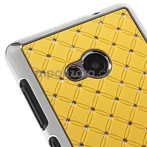 Drahokamový kryt na Microsoft Lumia 535 - žlutý - 3