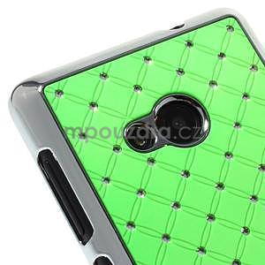 Drahokamový kryt na Microsoft Lumia 535 - zelený - 3