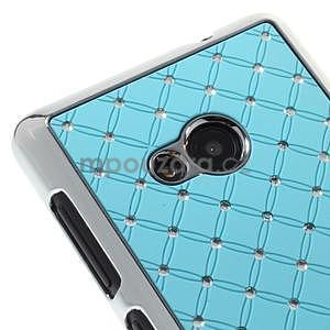 Drahokamový kryt na Microsoft Lumia 535 - světle modrý - 3
