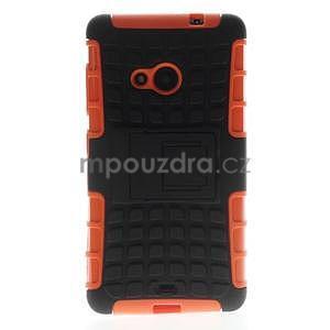 Vysoce odolný obal pro Microsoft Lumia 535 - oranžový - 3