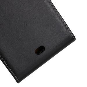 Flipové černé pouzdro na Microsoft Lumia 535 - 3