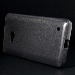 Broušený gelový obal na Microsoft Lumia 640 LTE - šedý - 3