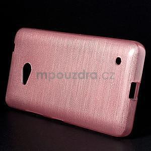 Broušený gelový obal na Microsoft Lumia 640 LTE - růžový - 3