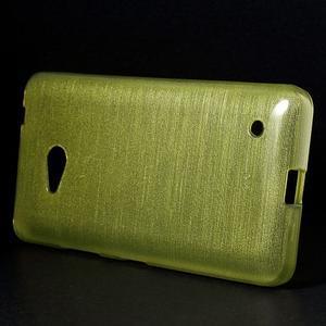 Broušený gelový obal na Microsoft Lumia 640 LTE - zelený - 3