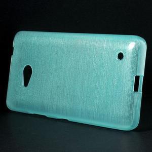 Broušený gelový obal na Microsoft Lumia 640 LTE - modrý - 3