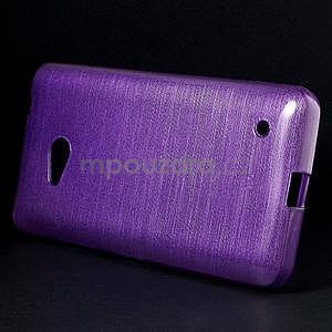 Broušený gelový obal na Microsoft Lumia 640 LTE - fialový - 3