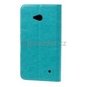 Tyrkysové peněženkové pouzdro na Microsoft Lumia 640 LTE - 3