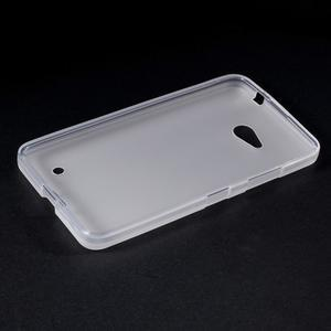 Matný gelový kryt na Microsoft Lumia 640 LTE - bílý - 3