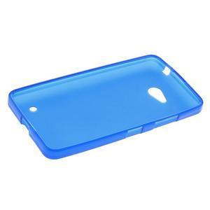 Matný gelový kryt na Microsoft Lumia 640 LTE - modrý - 3