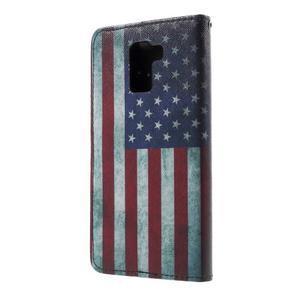 Cross peněženkové pouzdro na Huawei Honor 7 - US vlajka - 3