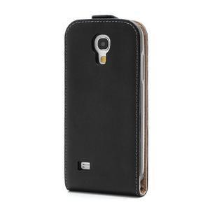 Černé flipové pouzdro mobil na Samsung Galaxy IV mini - 3