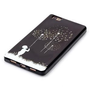 Gelový obal na mobil Huawei Ascend P8 Lite - chlapec a pampeliška - 3
