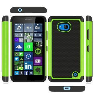 Odolný hybridní kryt na mobil Microsoft Lumia 640 - zelený - 3