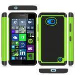 Odolný hybridní kryt na mobil Microsoft Lumia 640 - zelený - 3/4