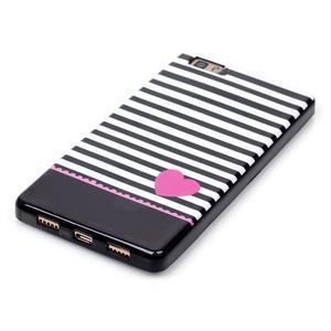 Gelový obal na mobil Huawei Ascend P8 Lite - srdce - 3