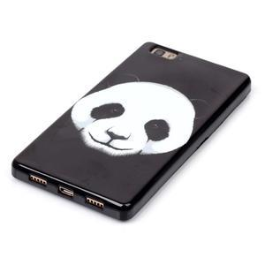 Gelový obal na mobil Huawei Ascend P8 Lite - panda - 3