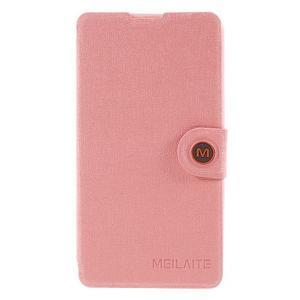 Solid pouzdro na mobil Microsoft Lumia 535 - růžové - 3