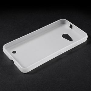 Matný gelový obal na Microsoft Lumia 550 - bílý - 3
