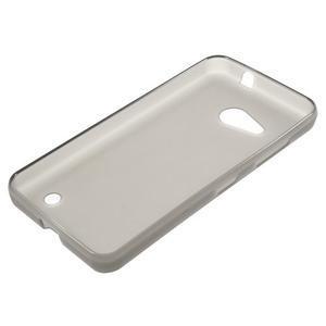 Matný gelový obal na Microsoft Lumia 550 - šedý - 3