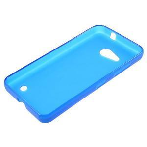 Matný gelový obal na Microsoft Lumia 550 - modrý - 3
