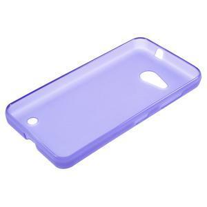 Matný gelový obal na Microsoft Lumia 550 - fialový - 3