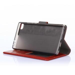 Koženkové pouzdro na mobil Huawei Ascend P8 - rose - 3