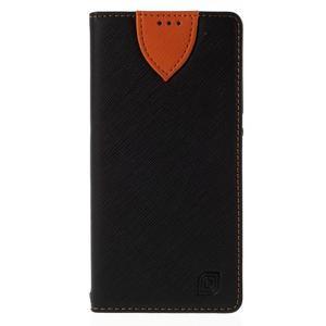 Style peněženkové pouzdro na Huawei Ascend P8 - černé - 3