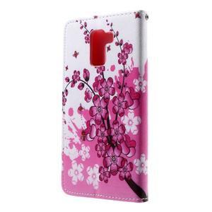 Cross peněženkové pouzdro na Huawei Honor 7 - kvetoucí větvička - 3