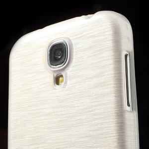 Gelový kryt s broušeným vzorem na Samsung Galaxy S4 - bílý - 3