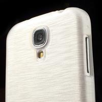 Gelový kryt s broušeným vzorem na Samsung Galaxy S4 - bílý - 3/5