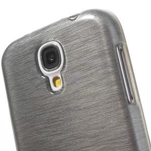 Gelový kryt s broušeným vzorem na Samsung Galaxy S4 - šedý - 3