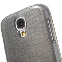 Gelový kryt s broušeným vzorem na Samsung Galaxy S4 - šedý - 3/5