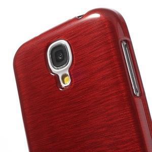 Gelový kryt s broušeným vzorem na Samsung Galaxy S4 - červený - 3