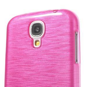 Gelový kryt s broušeným vzorem na Samsung Galaxy S4 - rose - 3