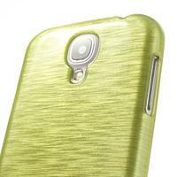 Gelový kryt s broušeným vzorem na Samsung Galaxy S4 - žlutozelený - 3/5